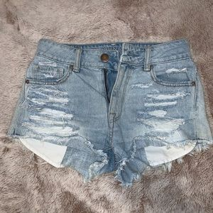 American eagle mid-wasted ripped shorts